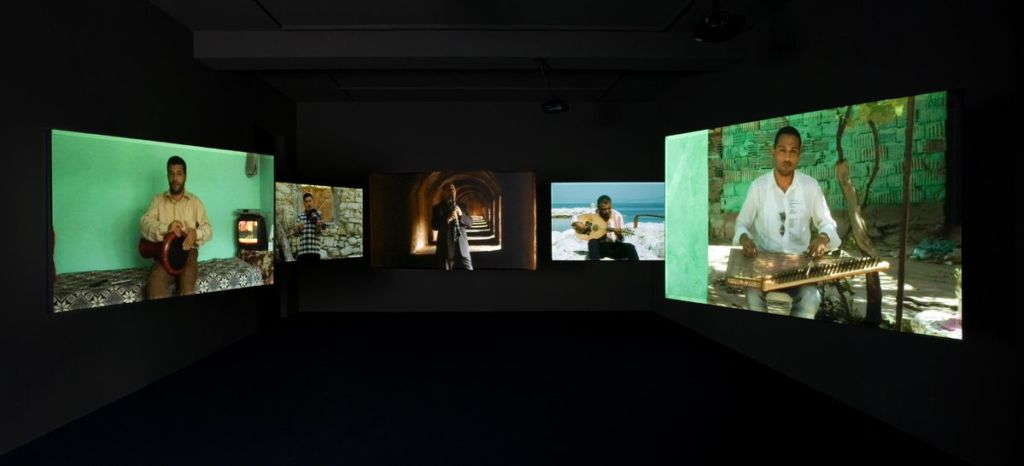 Ergin Çavuşoğlu, 'Quintet Without Borders', view from the video-installation, 2007.